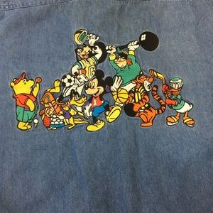 VTG Mickey Mouse Disney denim shirt XL